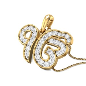 Ik Onkar Diamond Pendant