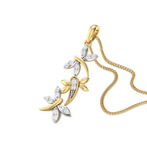 Trio Butterfly Diamond Pendant