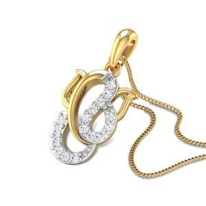 Aileen Ganesha Diamond Pendant