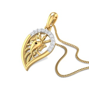 Paisley Ganesha Diamond Pendant