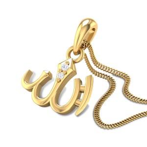 Islamic Allah Diamond Pendant