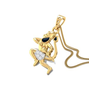 Anjaneya Diamond Pendant