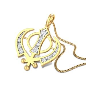 Ronan Khanda Diamond Pendant