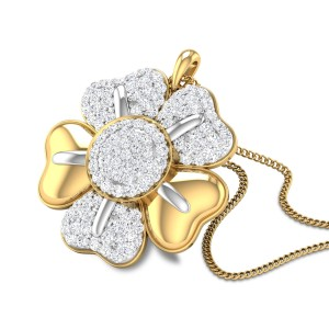Loralei Floral Diamond Studdded Pendant