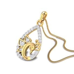 Kaiser Peacock Diamond Pendant