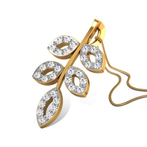 Aakhya Diamond Leafy Pendant