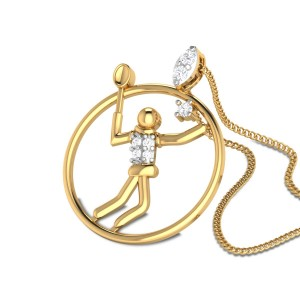 Guenevere Diamond Badminton Pendant