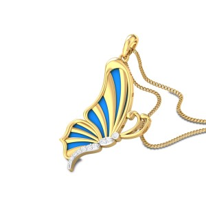 Jenivee Butterfly Diamond Pendant
