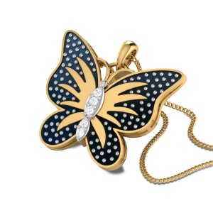 Jenelle Butterfly Diamond Pendant