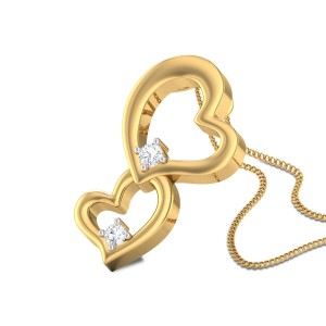 Heath Twin Heart Diamond Pendant