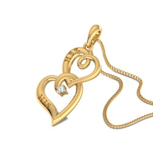 Hendrikus Twin Heart Diamond Pendant