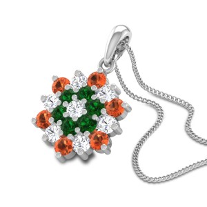 Flower Power Diamond Pendant