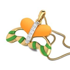 Lorenna Butterfly Diamond Pendant