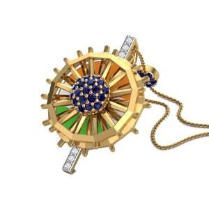Nation's Pride Diamond Pendant with Chain