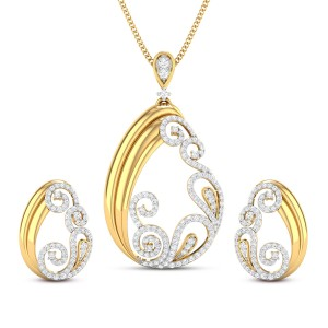 Amoli Diamond Pendant Set
