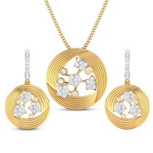 Jayana Diamond Star Pendant Set