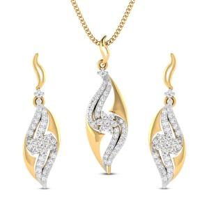Damini Diamond Pendant Set