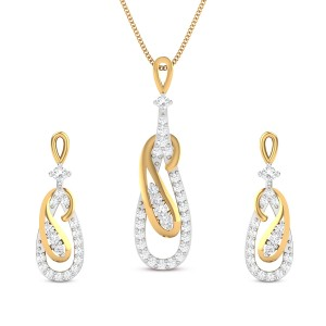 Milana Diamond Pendant Set