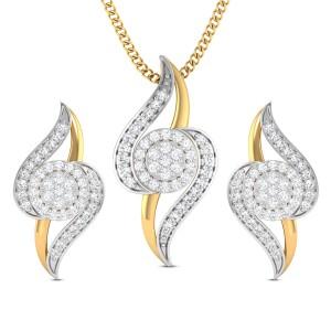 Nira Diamond Pendant Set