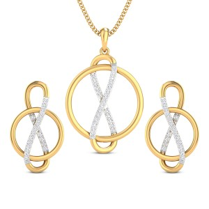 Salena Infinity Diamond Pendant Set