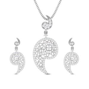 Saloni Diamond Pendant Set