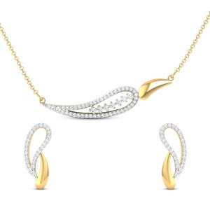 Shefali Paisley Diamond Pendant Set