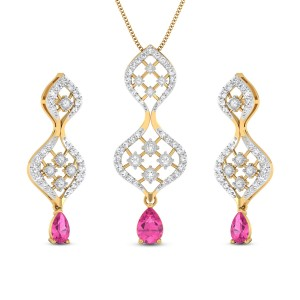 Diamond Pendant Set DJPS5165