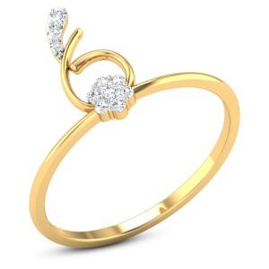 Buy Lynn Diamond Ring in 1.88 Grams Gold Online