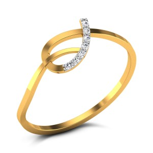 Buy Lilly Diamond Ring in 1.4 Grams Gold Online