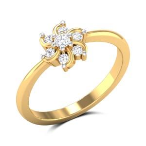 December Flower Diamond Ring