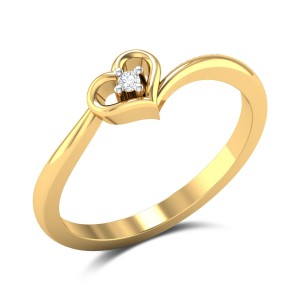 Buy Fair Love Diamond Engagement Heart Ring in 1.88 Gms Gold Online