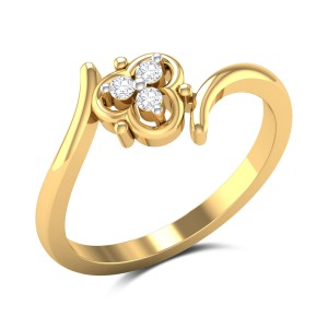 Buy Sarah 3 Stone Diamond Engagement Ring in 2.23 Gms Gold Online