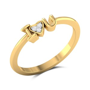 Kathryn Diamond Studded Gold Ring DJRN5280