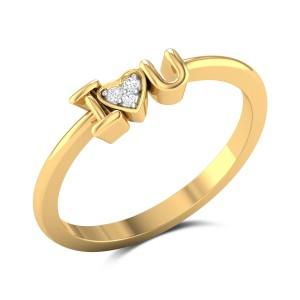 Kathryn Diamond Studded Gold Ring DJRN5280