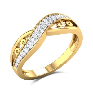 Aadya Diamond Wavy Ring