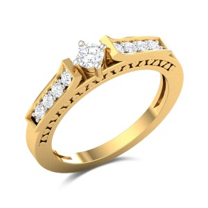 Buy Jane 9 Stone Diamond Engagement Ring in 3.75 Gms Gold Online