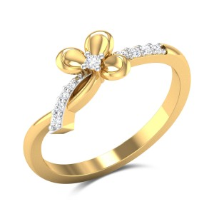 Aahladita Bowed Diamond Ring