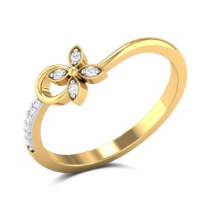 Aaleahya Floral Wavy Ring