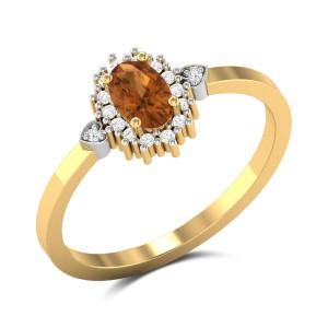 Radiant Saphire Diamond Ring