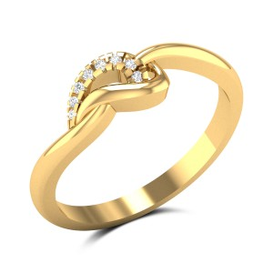 Mod Angle Diamond Ring