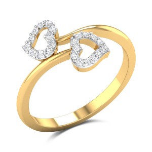 Heart N Heart Diamond Ring