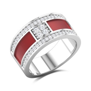 Red Band Diamond Ring