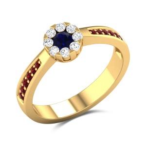 Chrysanthemum Diamond Ring