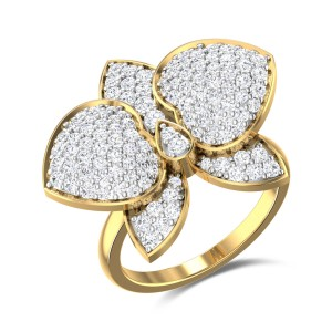 Royal Butterfly Diamond Ring