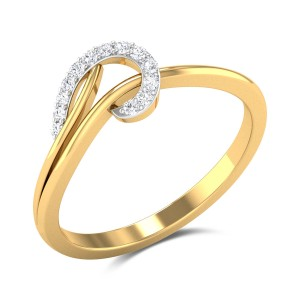 Buy Logan Diamond Ring in 1.73 Gms Gold Online