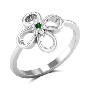 Adalheida Diamond Floral Ring