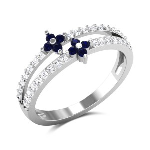 Aedre Diamond and Sapphire Ring