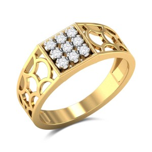 Nine Stone Lattice Diamond Ring