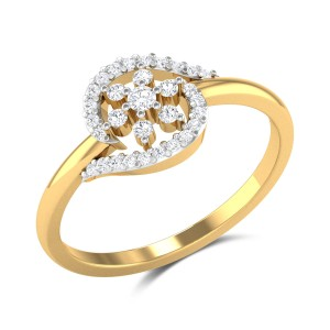 Malay Floral Diamond Ring