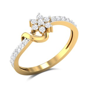 Morad Floral Diamond Ring